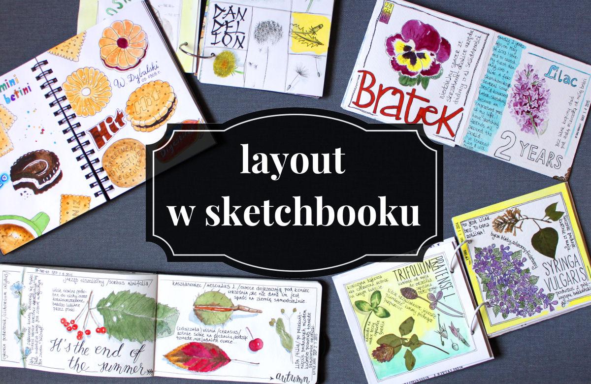 sierysuje.pl kompozycja strony w sketchbooku
