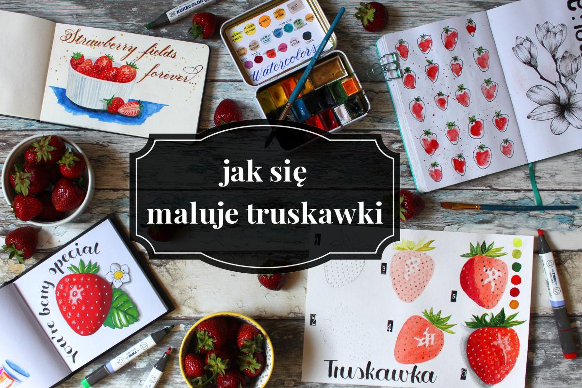 sierysuje.pl jak się maluje truskawki akwarelami