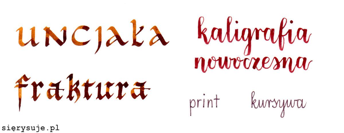 sierysuje.pl kaligrafia uncjała fraktura print