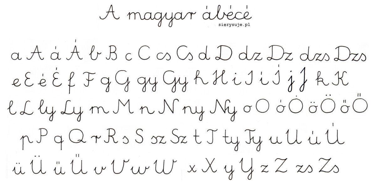 sierysuje.pl pismo szkolne na Węgrzech węgierskie pismo elementarzowe