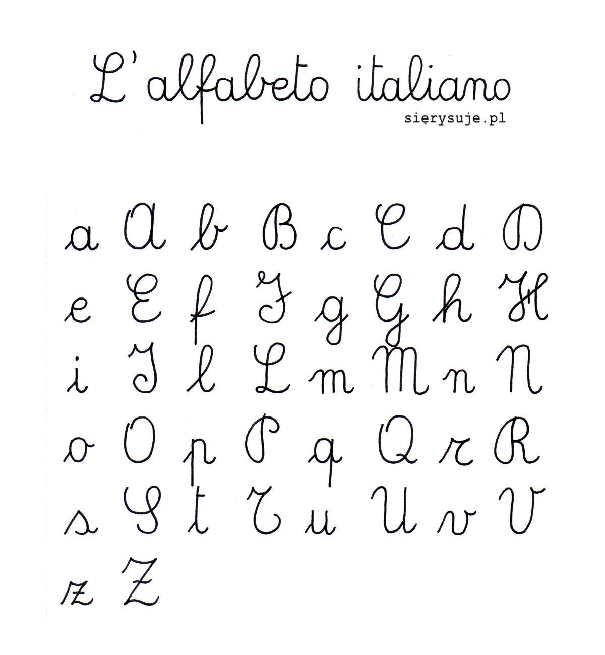 sierysuje.pl pismo szkolne we Włoszech włoskie pismo elementarzowe