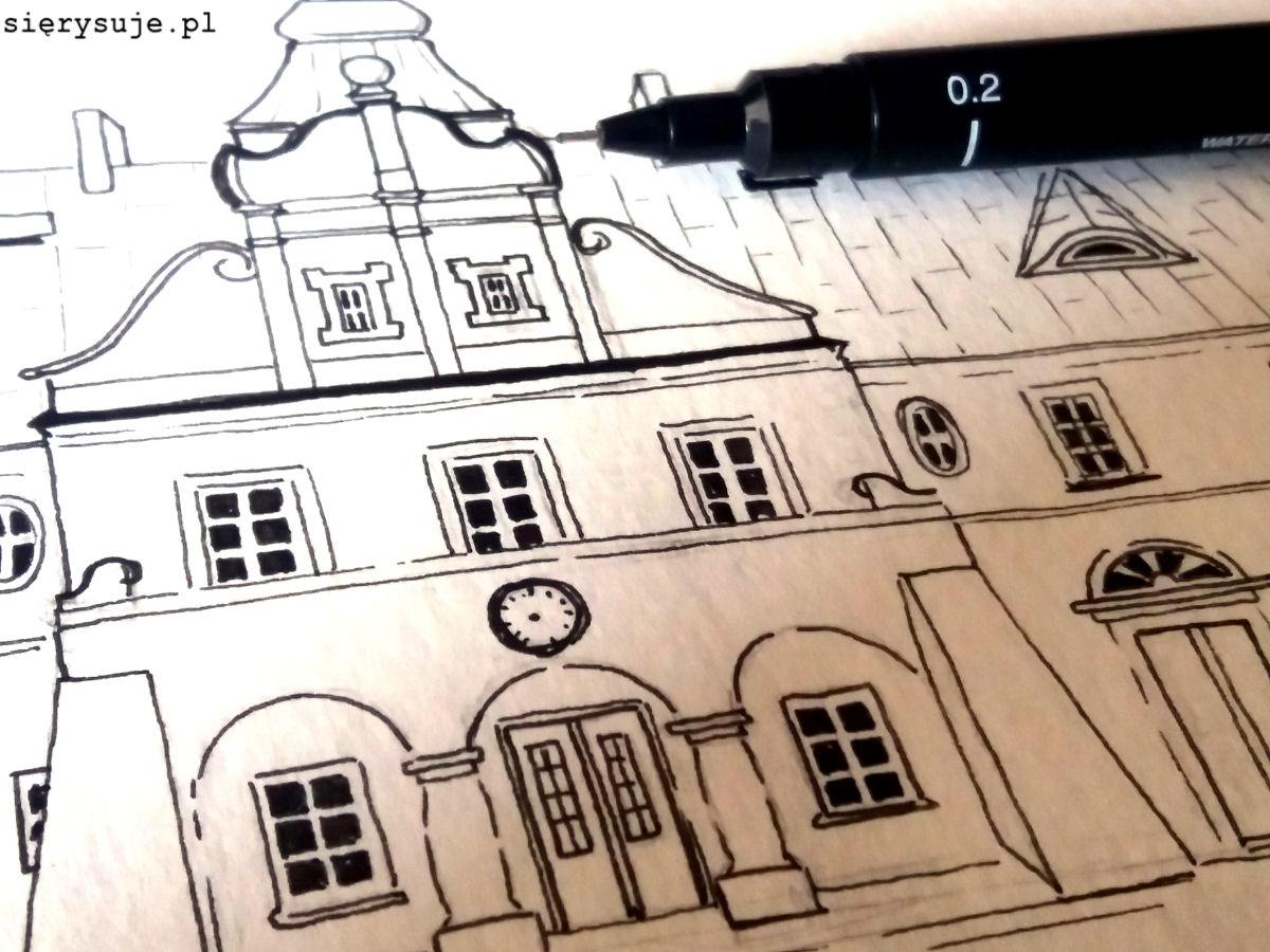 sierysuje.pl urban sketching w żyrardowie dworzec pkp