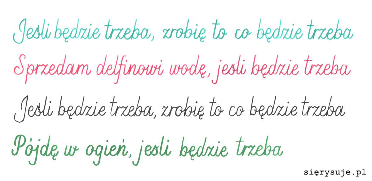 sierysuje.pl kaligrafia monoliniowa szklane pióro