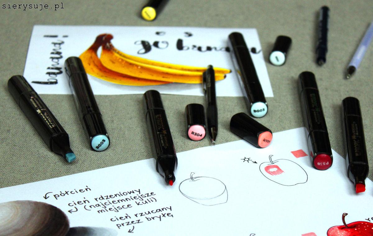 sierysuje,pl jak rysować markerami