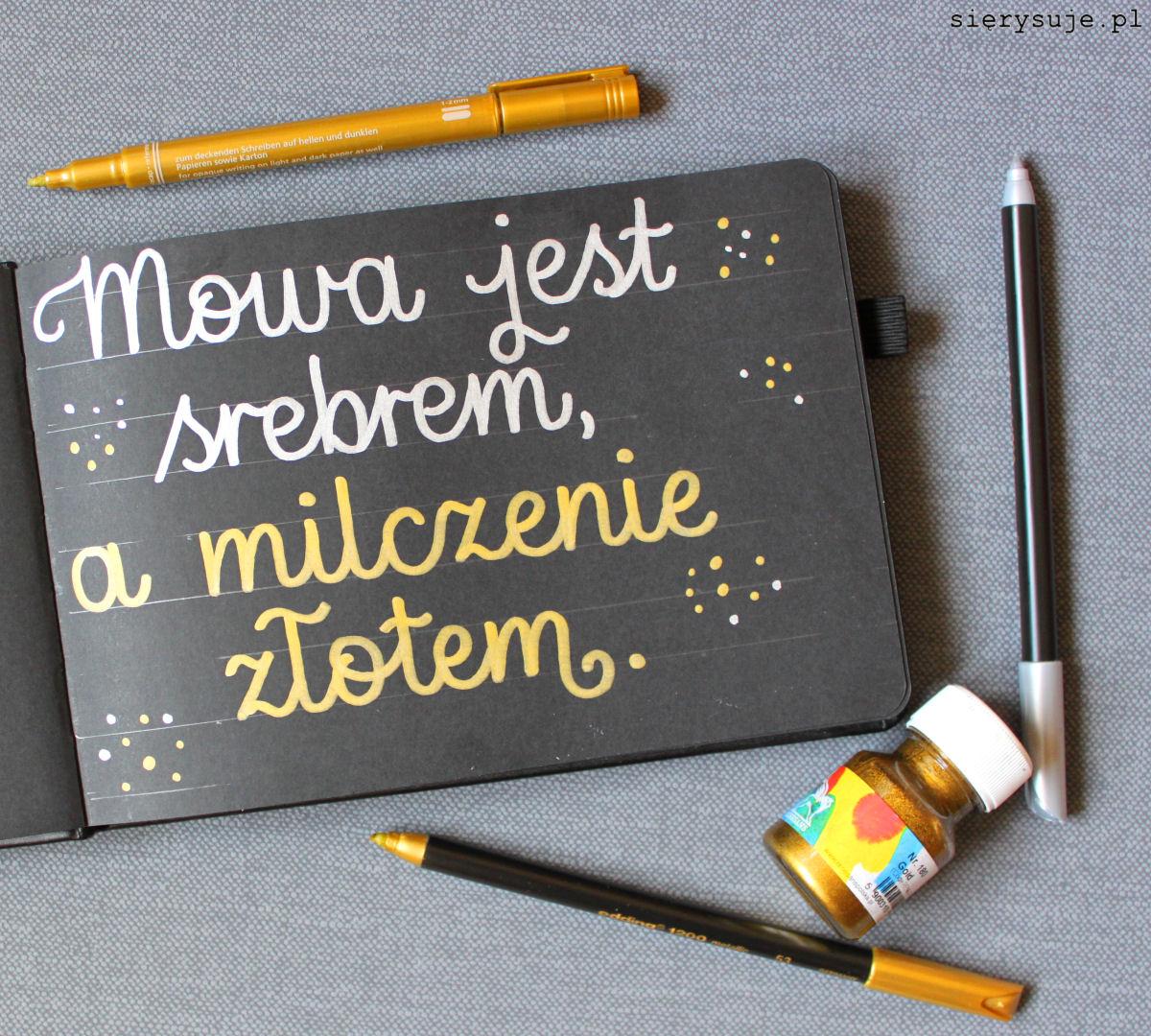 sierysuje.pl kaligrafia monoliniowa pisakiem