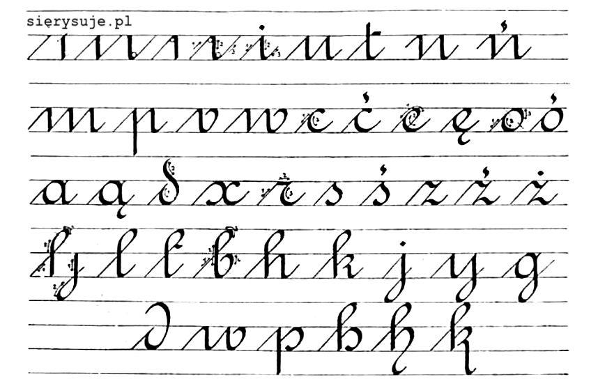 sierysuje.pl pismo rondowe polskie tatuch