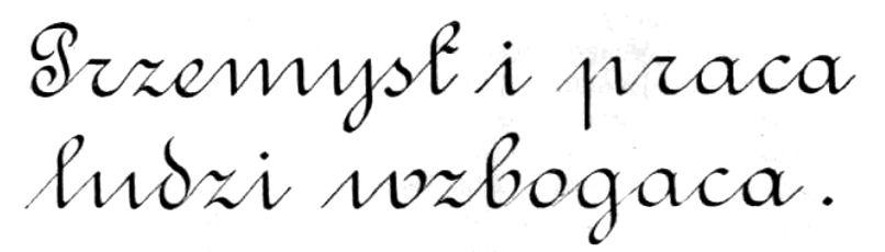 sierysuje.pl polskie pismo rondowe