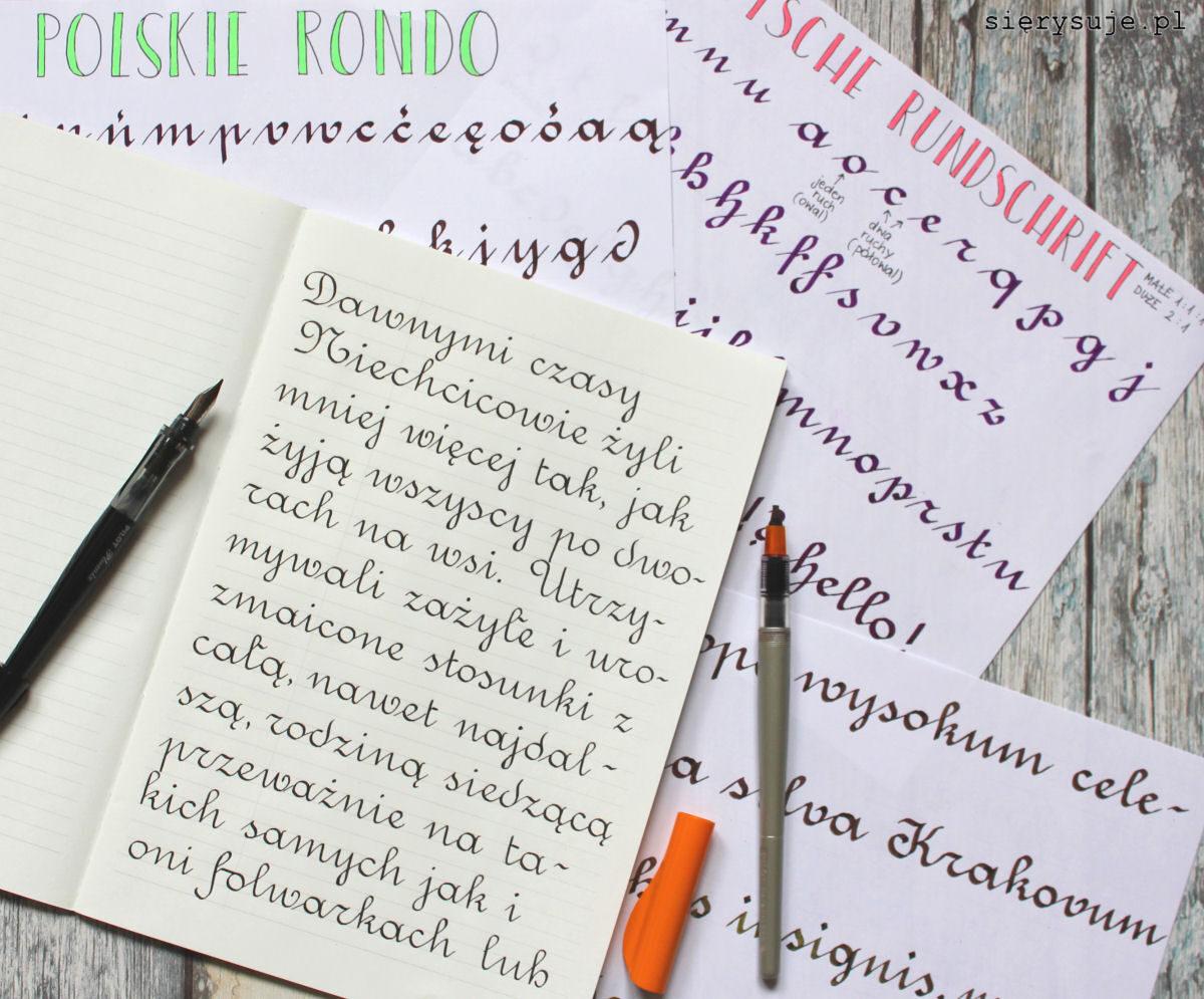 sierysuje.pl pismo rondowe kaligrafia