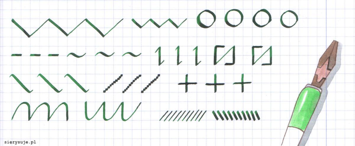 sierysuje.pl kaligrafia ćwiczenia ścięta stalówka