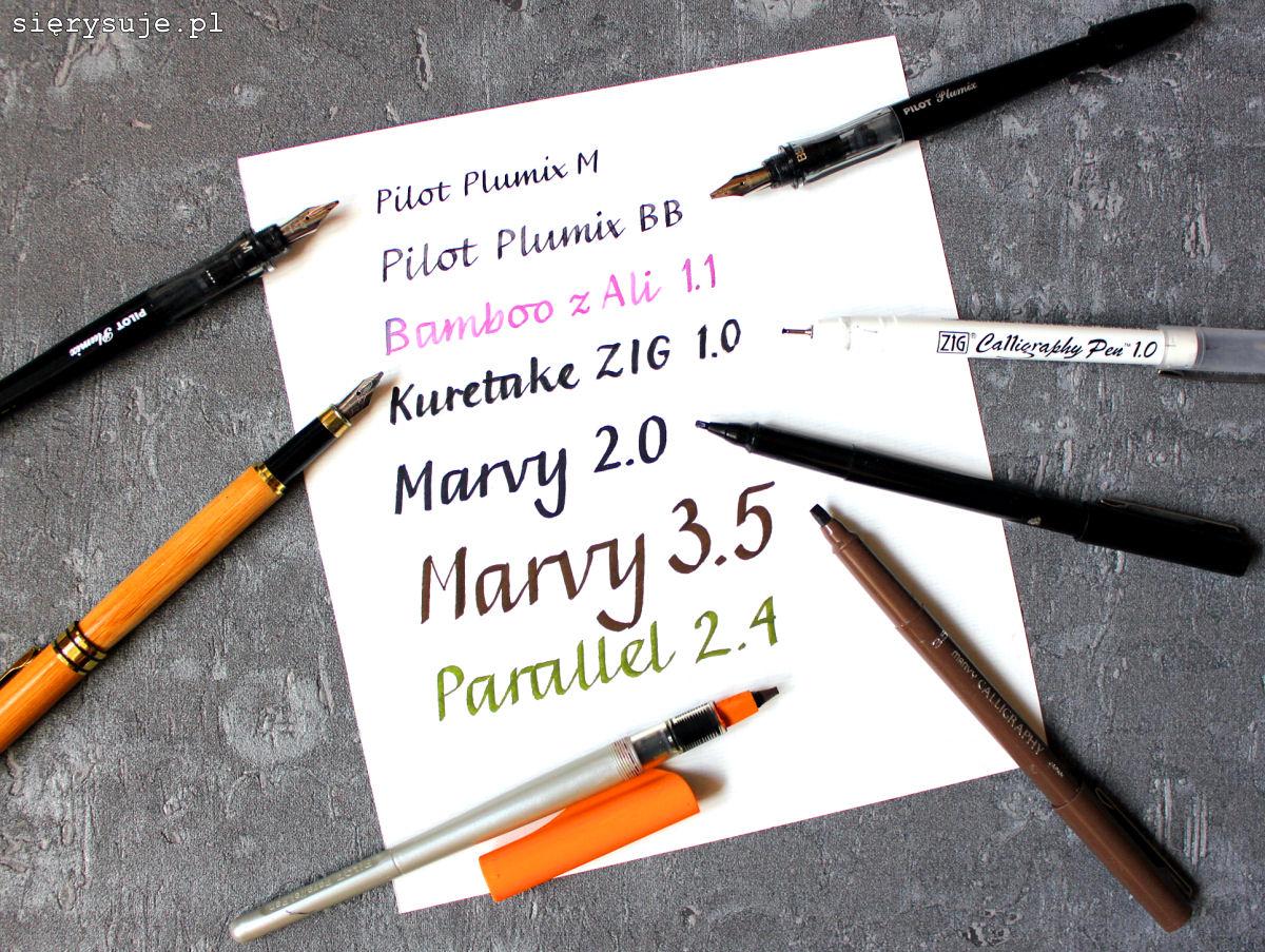 sierysuje.pl ściętą końcówką pisanie kaligrafia