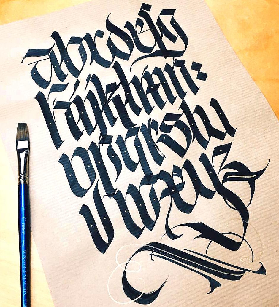sierysuje.pl kaligrafia pędzelkiem kaligrafowanie