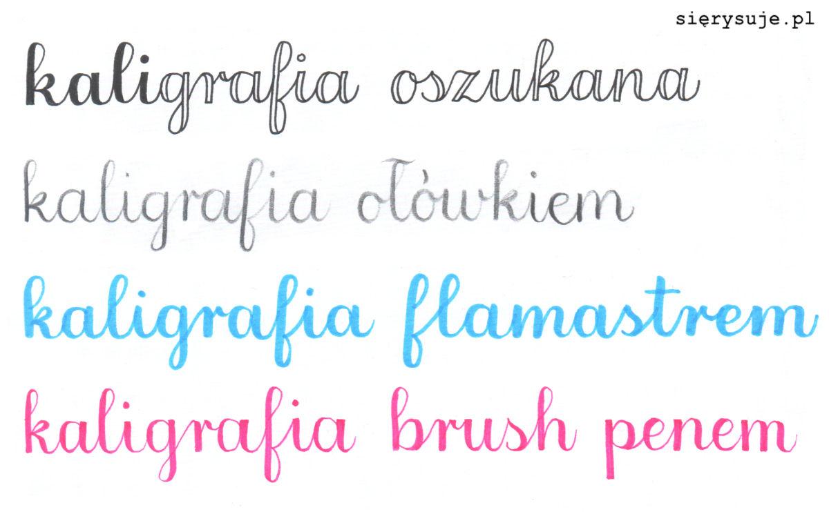 sierysuje.pl faux calligraphy kaligrafia ołówkiem jak się nauczyć kaligrafii