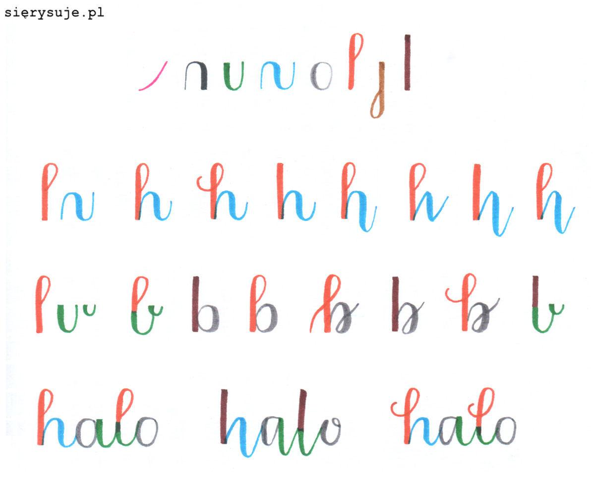 sierysuje.pl warianty liter w kaligrafii własny styl