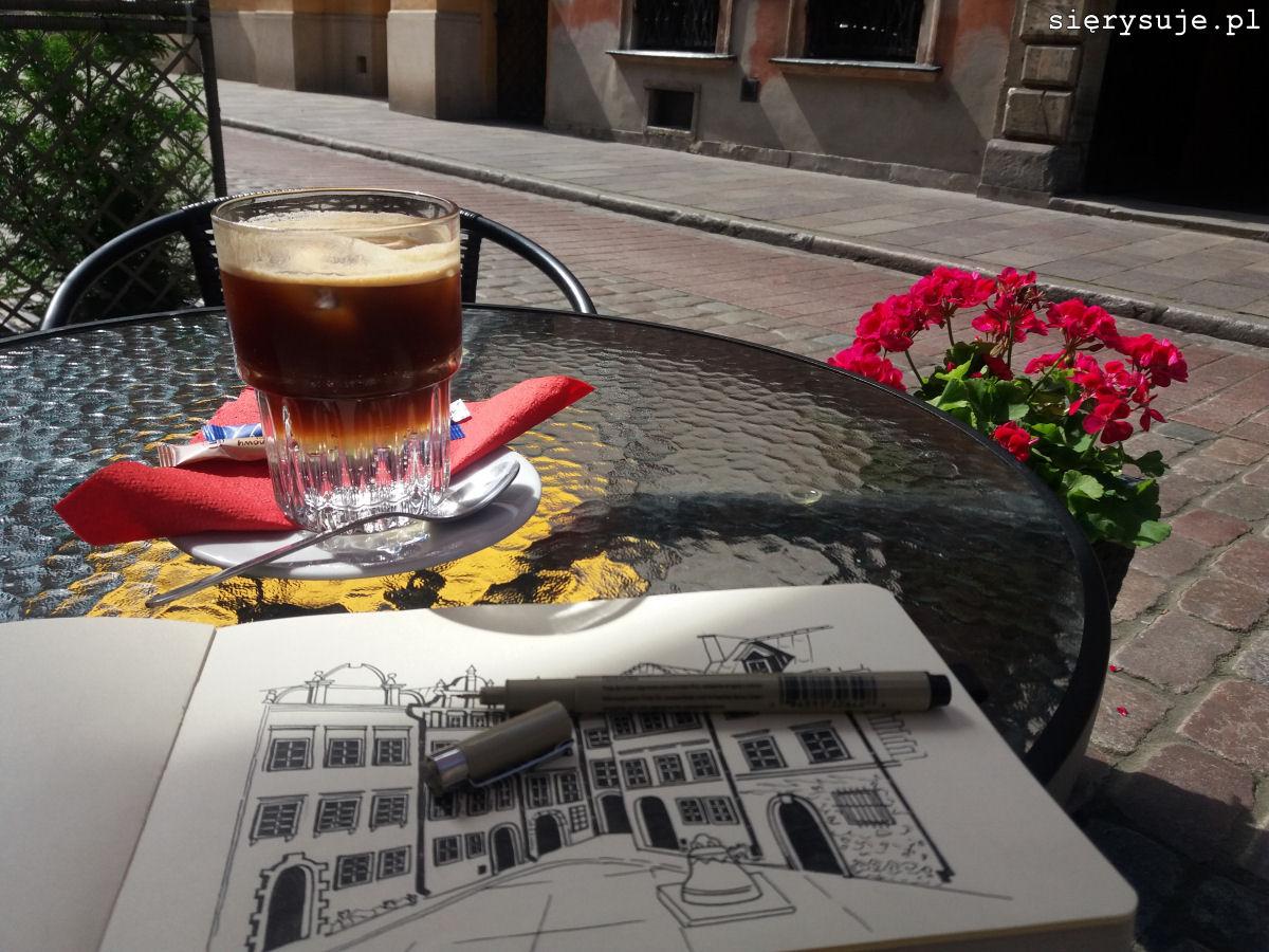sierysuje.pl rysowanie w kawiarni