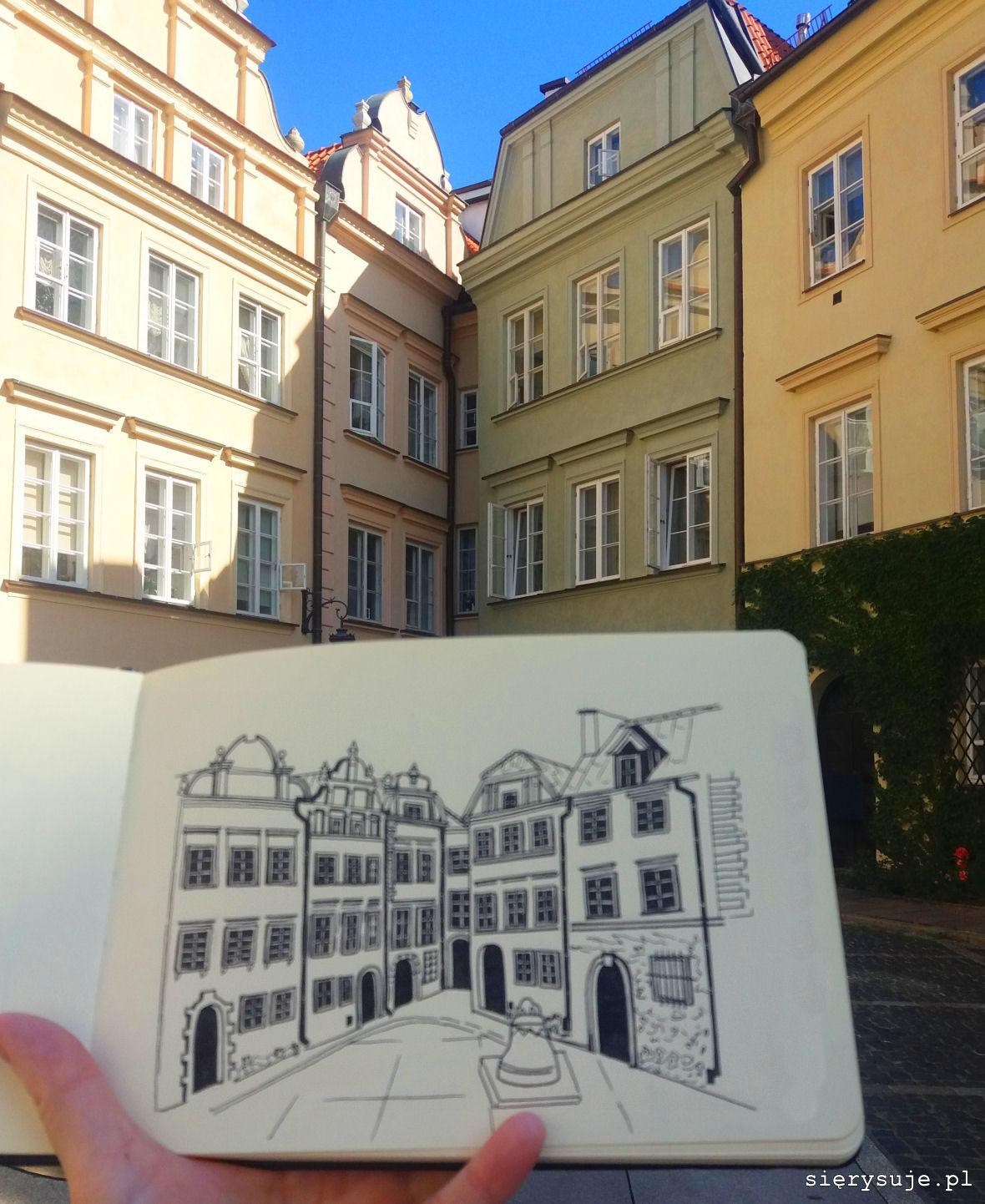 sierysuje.pl urban sketching na warszawskiej starówce