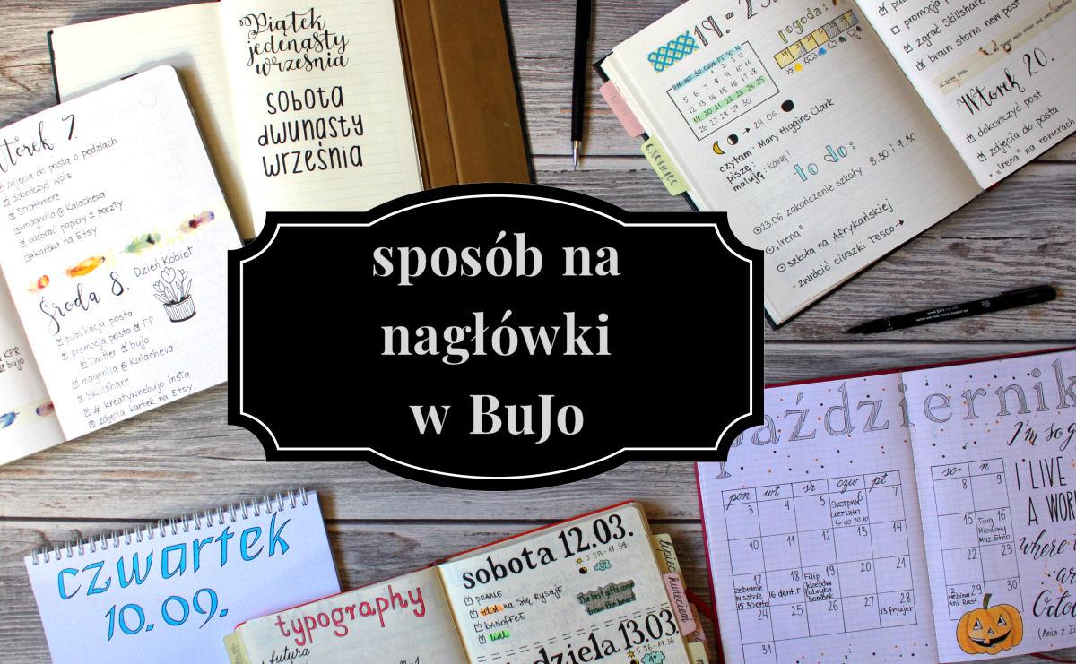 sierysuje.pl piękne nagłówki w bujo napisy bullet journal