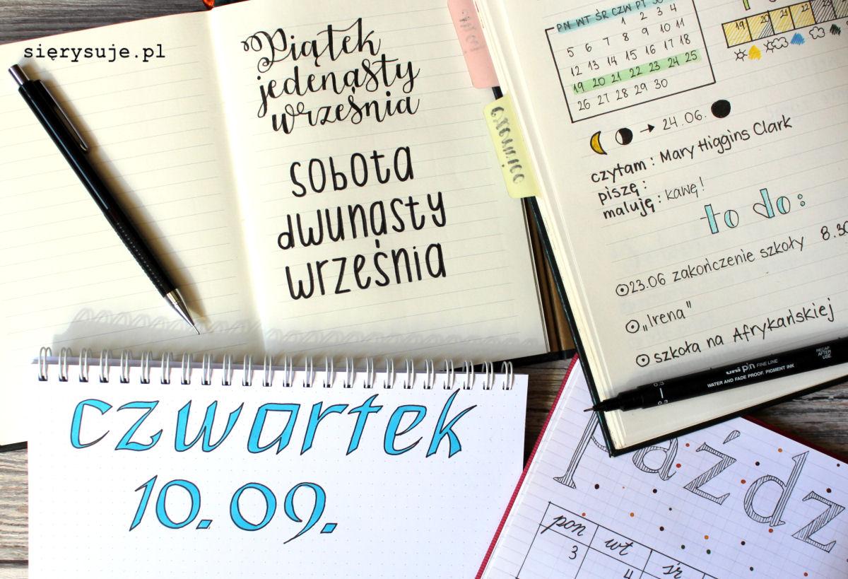 sierysuje.pl jak zrobić nagłówki bujo bullet journal