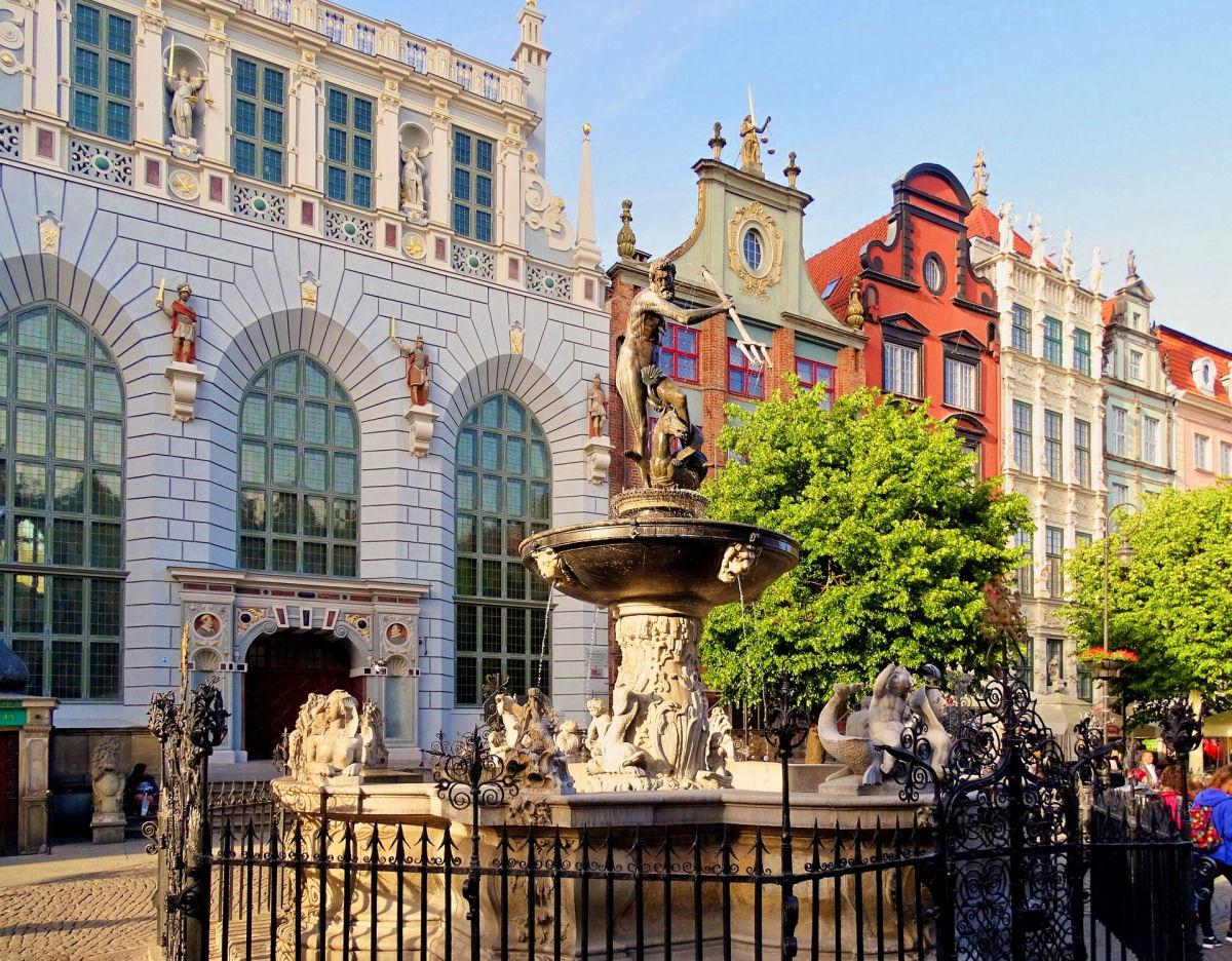 sierysuje.pl gdańsk fontanna neptuna