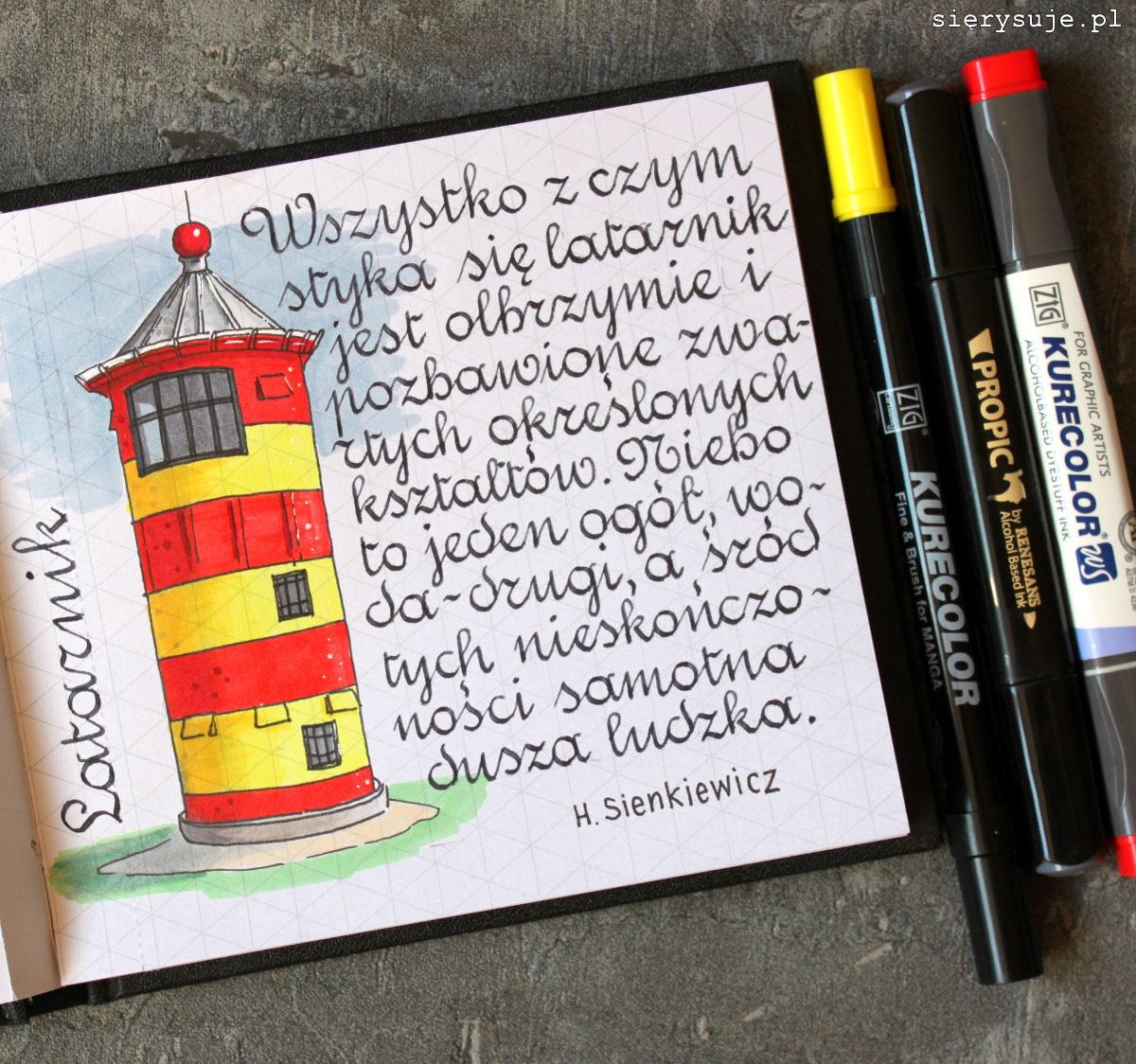 sierysuje.pl latarnia morska rysunek