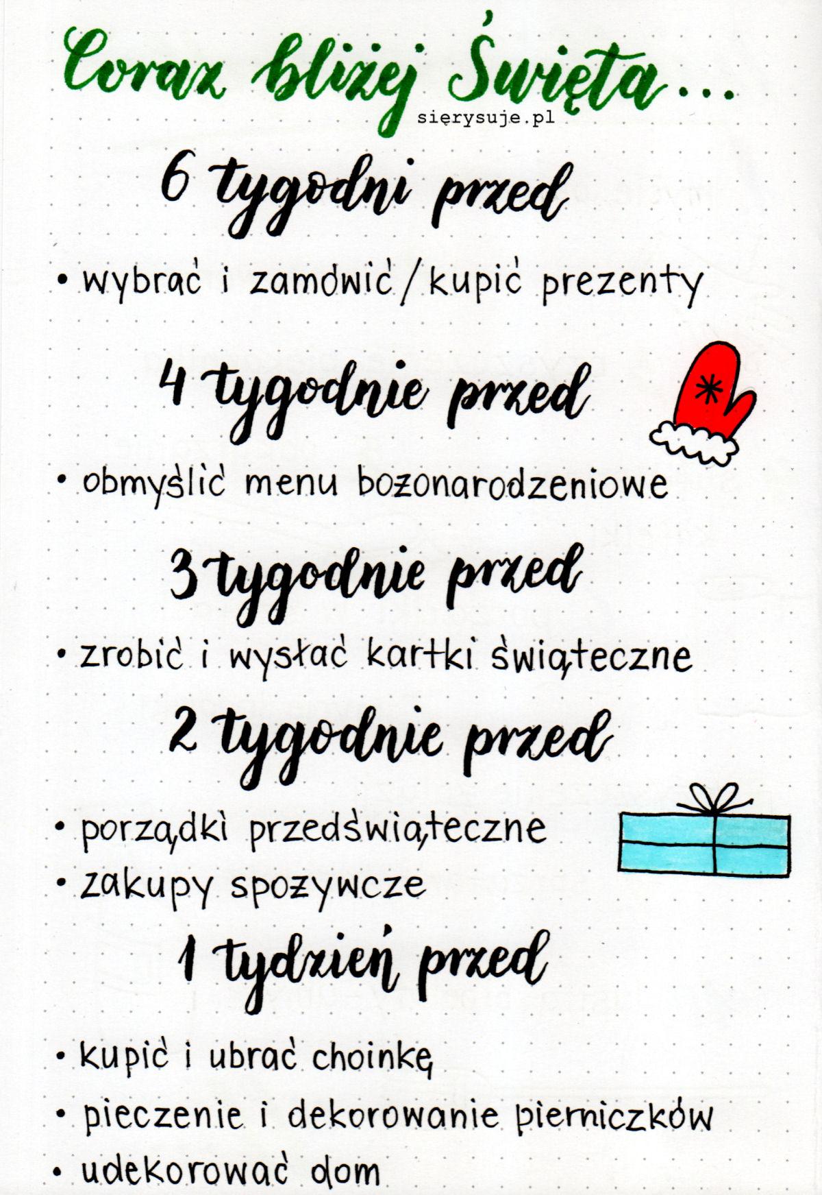 sierysuje.pl Boże narodzenie BUllet Journal
