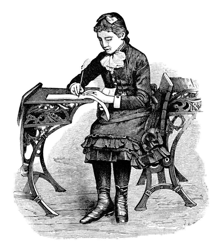 """sierysuje.pl retro ilustracja z ksiązki """"Italik. Pisz ładniej"""""""