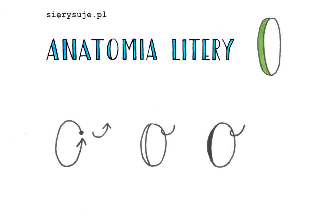 sierysuje.pl jak kaligrafować literę O