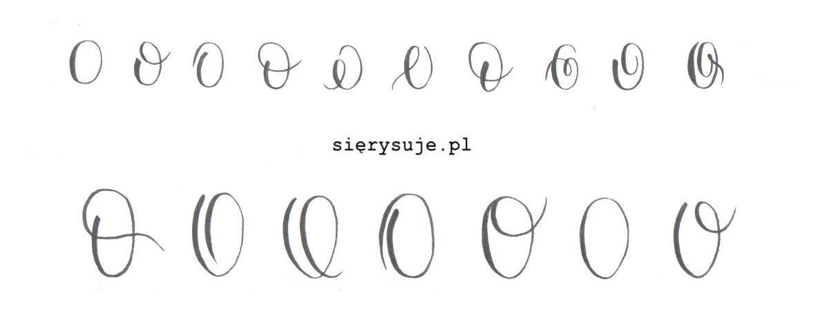 sierysuje.pl jak kaligrafować literę O o