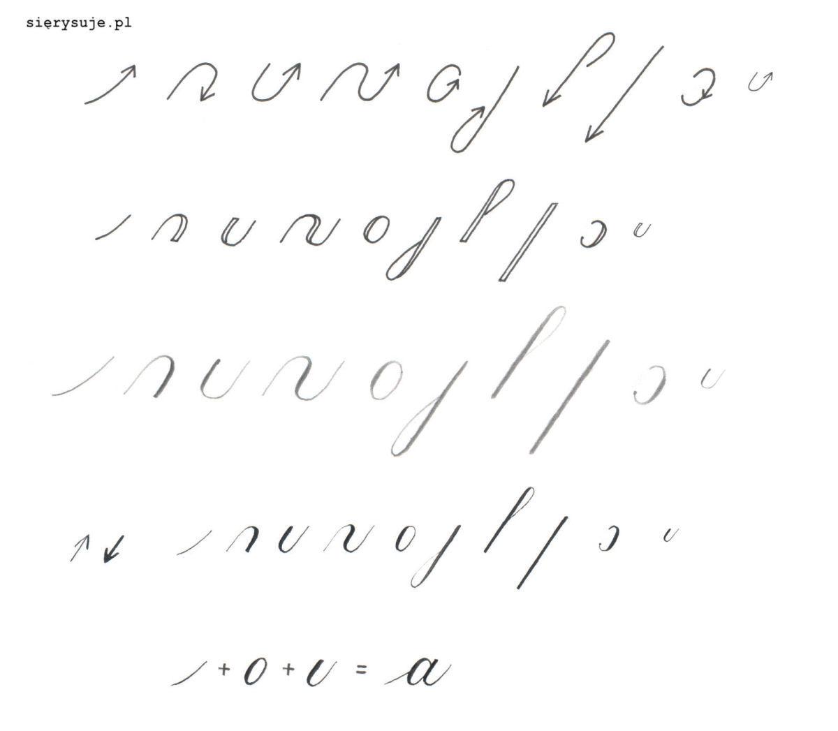 sierysuje.pl elementy składowe liter